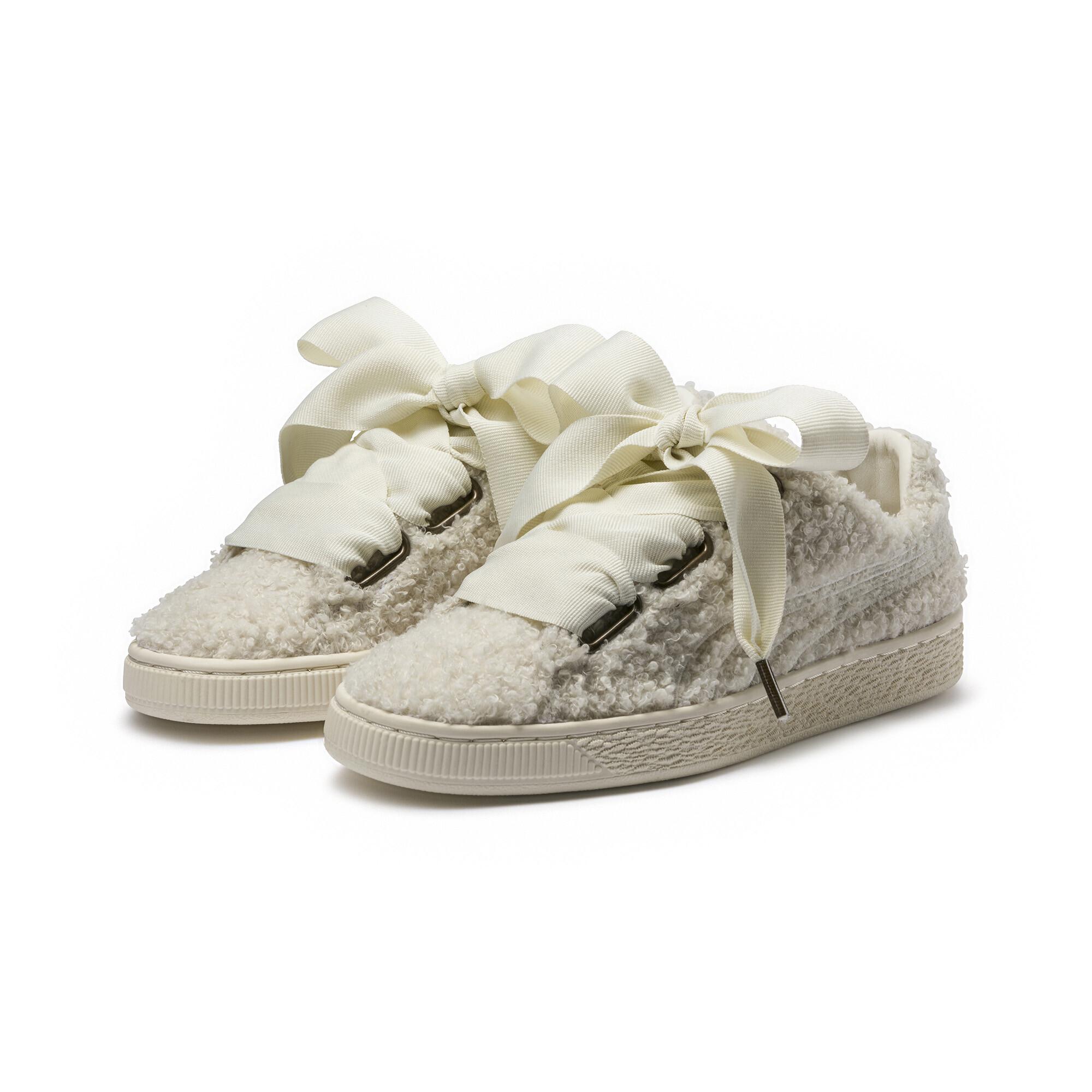the latest ed05d dbd47 Details about PUMA Basket Heart Teddy Women's Sneakers Women Shoe