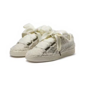 Thumbnail 2 of Basket Heart Teddy Women's Sneakers, Whisper White-Whisper White, medium