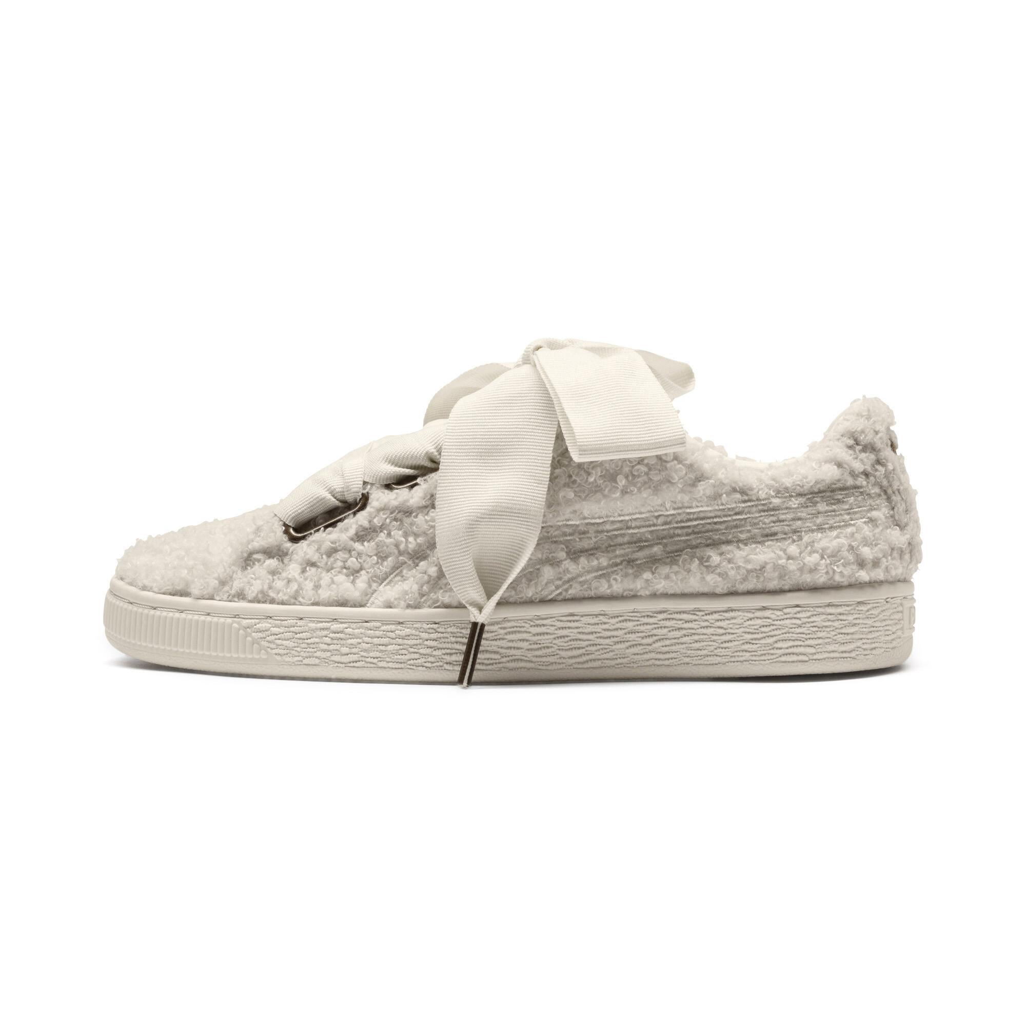PUMA-Basket-Heart-Teddy-Women-s-Sneakers-Women-Shoe thumbnail 4