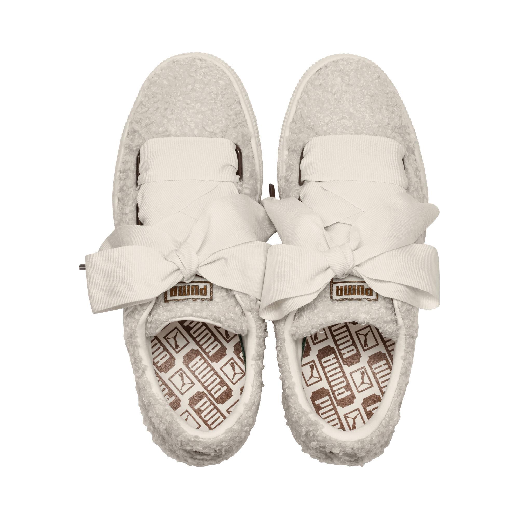 PUMA-Basket-Heart-Teddy-Women-s-Sneakers-Women-Shoe thumbnail 7