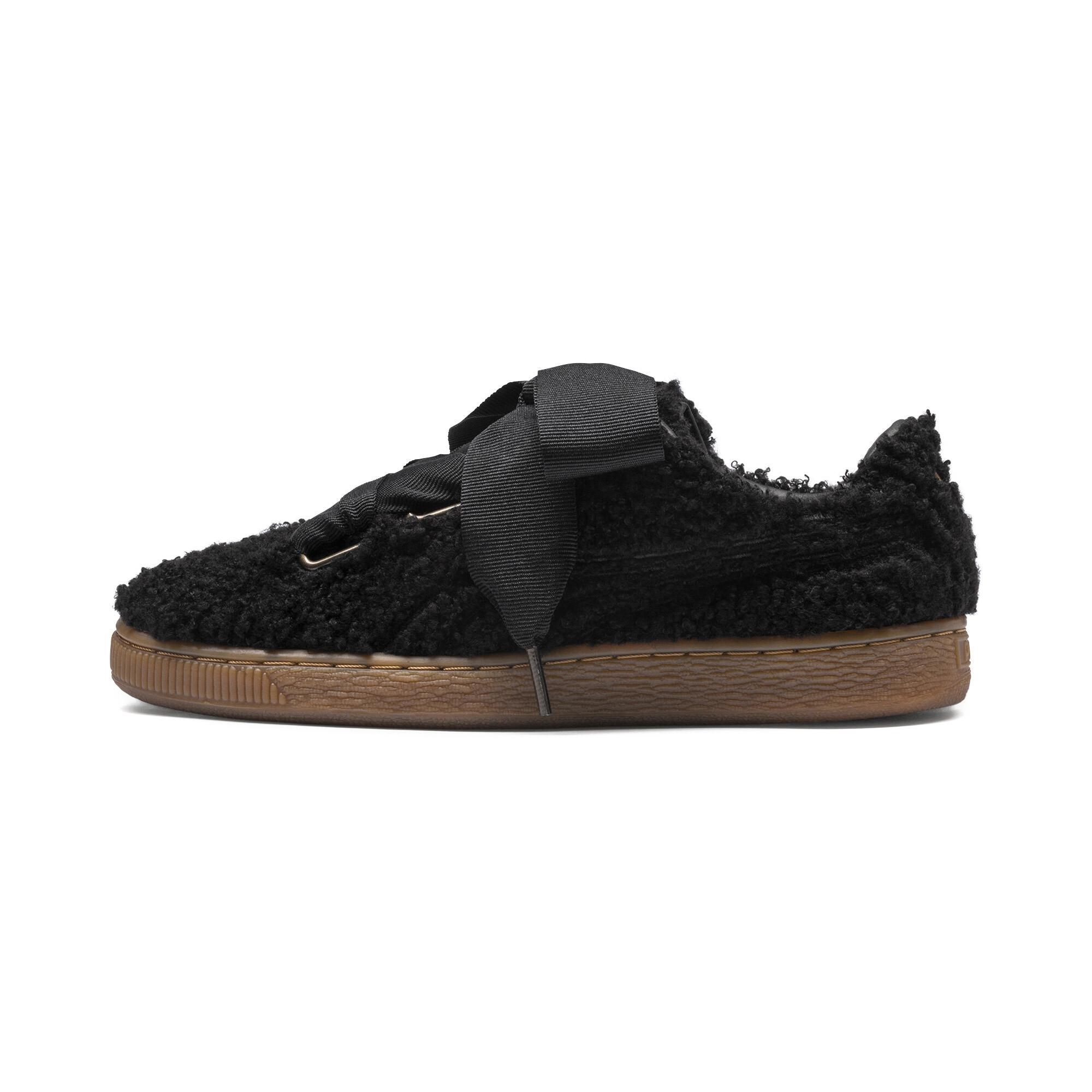 PUMA-Basket-Heart-Teddy-Women-s-Sneakers-Women-Shoe thumbnail 10