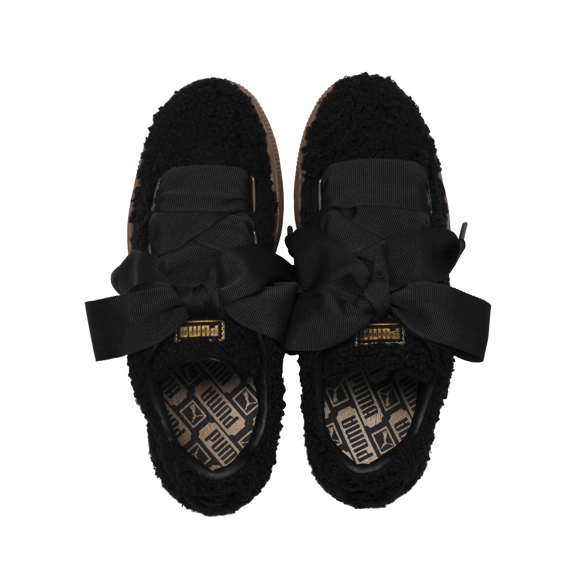 PUMA-Basket-Heart-Teddy-Women-s-Sneakers-Women-Shoe thumbnail 13