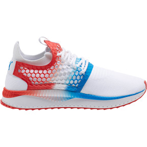 Thumbnail 3 of TSUGI NETFIT v2 Firecracker, Puma White-Flame Scarlet, medium