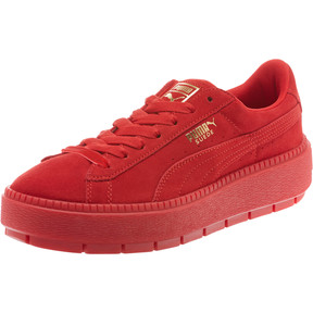 Thumbnail 1 of Suede Platform Trace Valentine's Day Women's Sneakers, Red Dahlia-Barbados Cherry, medium