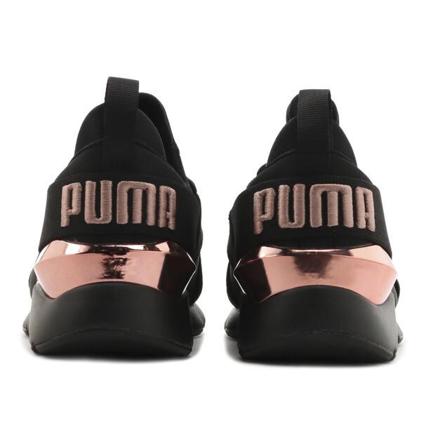プーマ ミューズ メタル ウィメンズ, Puma Black-Rose Gold, large-JPN