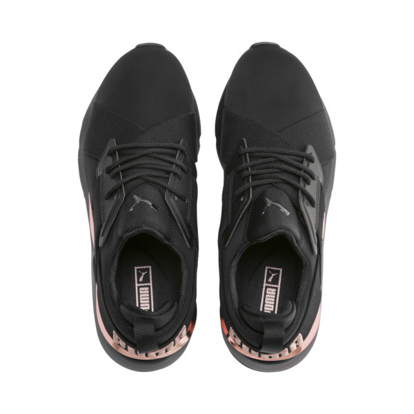 Muse Metal Women's Trainers, Puma Black-Rose Gold, large
