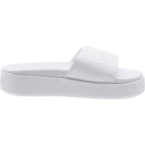 Thumbnail 3 of Platform Slide Bold Women's Sandals, Puma White-Puma White, medium