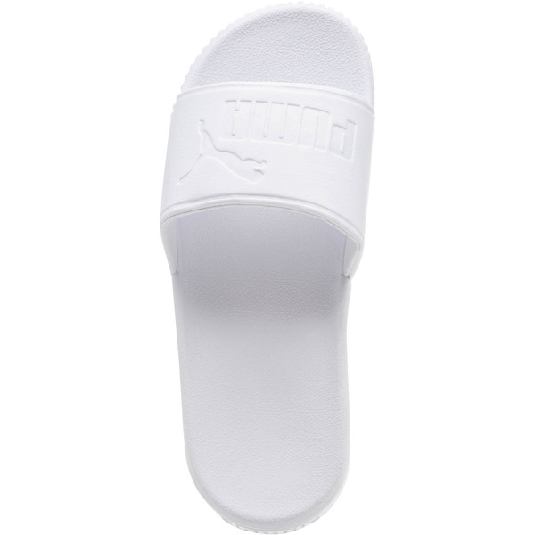 Platform Slide Bold Women's Sandals, Puma White-Puma White, large