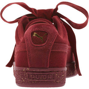 Thumbnail 4 of Suede Heart Winter Velvet JR Sneakers, Tibetan Red-Puma Team Gold, medium