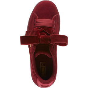 Thumbnail 5 of Suede Heart Winter Velvet JR Sneakers, Tibetan Red-Puma Team Gold, medium