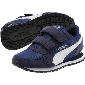 Thumbnail 2 of ST Runner v2 Mesh AC Little Kids' Shoes, Peacoat-Puma White, medium