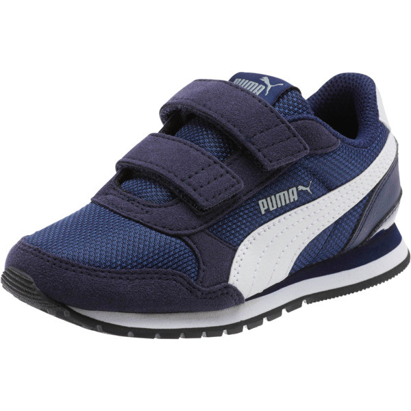 ST Runner v2 Mesh AC Little Kids' Shoes, Peacoat-Puma White, large