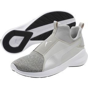 Thumbnail 2 of Puma Rebel Mid Glow JR Sneakers, Gray Violet-Puma Silver, medium