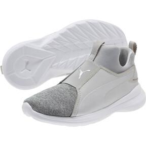 Thumbnail 2 of Puma Rebel Mid Glow Preschool Sneakers, 02, medium