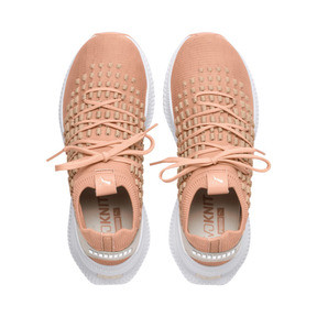 Thumbnail 6 of AVID FUSEFIT Evolution Sneaker, Dusty Coral-Gold-White, medium