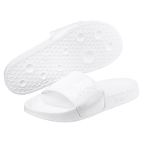 Thumbnail 2 of Women's Leadcat Patent Slide Sandals, Puma White-Puma White, medium