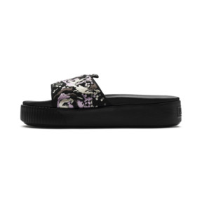 Thumbnail 1 of Platform Slide Digital Embroidery Damen Sandalen, Puma Black-Silver-W.Orchid, medium