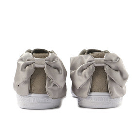 Thumbnail 4 of Suede Bow Women's Sneakers, Elephant Skin-Silver Cloud, medium