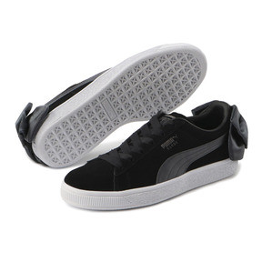 Thumbnail 2 of Suede Bow Women's Sneakers, Puma Black-Iron Gate, medium