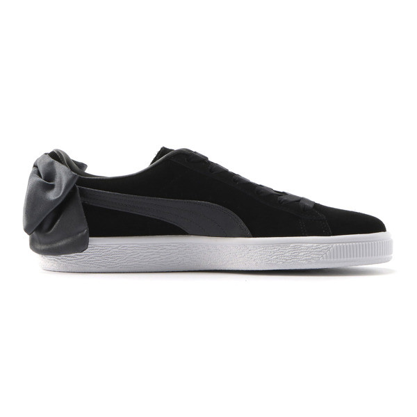 Suede Bow Women's Sneakers, Puma Black-Iron Gate, large