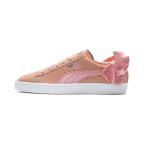Thumbnail 1 of Suede Bow Damen, Peach Bud-Puma White, medium
