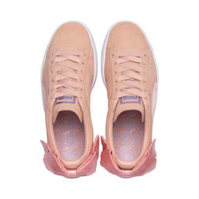 Thumbnail 6 of Suede Bow Damen, Peach Bud-Puma White, medium