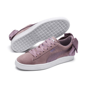 Thumbnail 2 of Suede Bow Damen, Elderberry-Puma White, medium