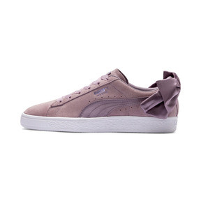 Thumbnail 1 of Suede Bow Damen, Elderberry-Puma White, medium