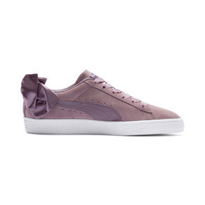 Thumbnail 5 of Suede Bow Damen, Elderberry-Puma White, medium