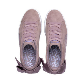 Thumbnail 6 of Suede Bow Damen, Elderberry-Puma White, medium