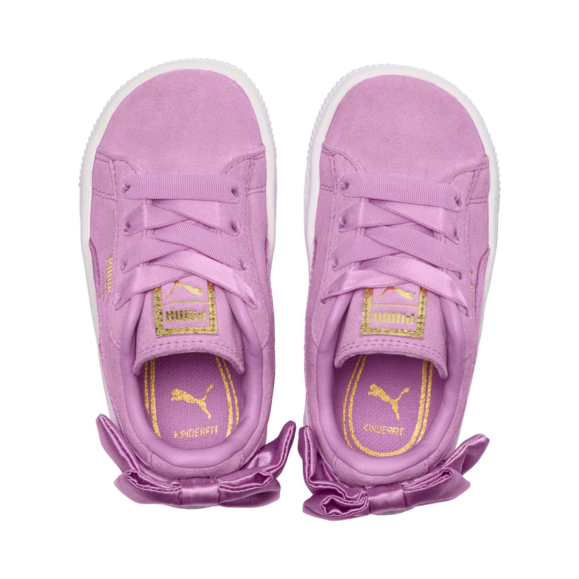 Image Puma Suede Bow Kids' Preschool Sneakers #6
