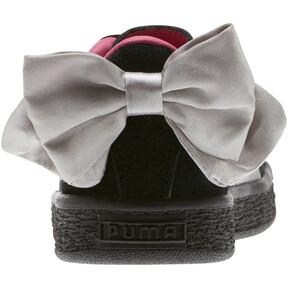 Thumbnail 4 of Suede Bow AC Sneakers PS, Puma Black-Fuchsia Purple, medium