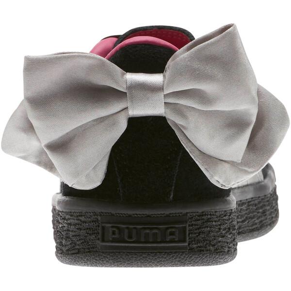 Suede Bow AC Sneakers PS, Puma Black-Fuchsia Purple, large