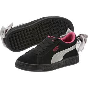 Thumbnail 2 of Suede Bow AC Sneakers PS, Puma Black-Fuchsia Purple, medium