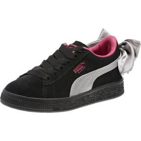 Thumbnail 1 of Suede Bow AC Sneakers PS, Puma Black-Fuchsia Purple, medium