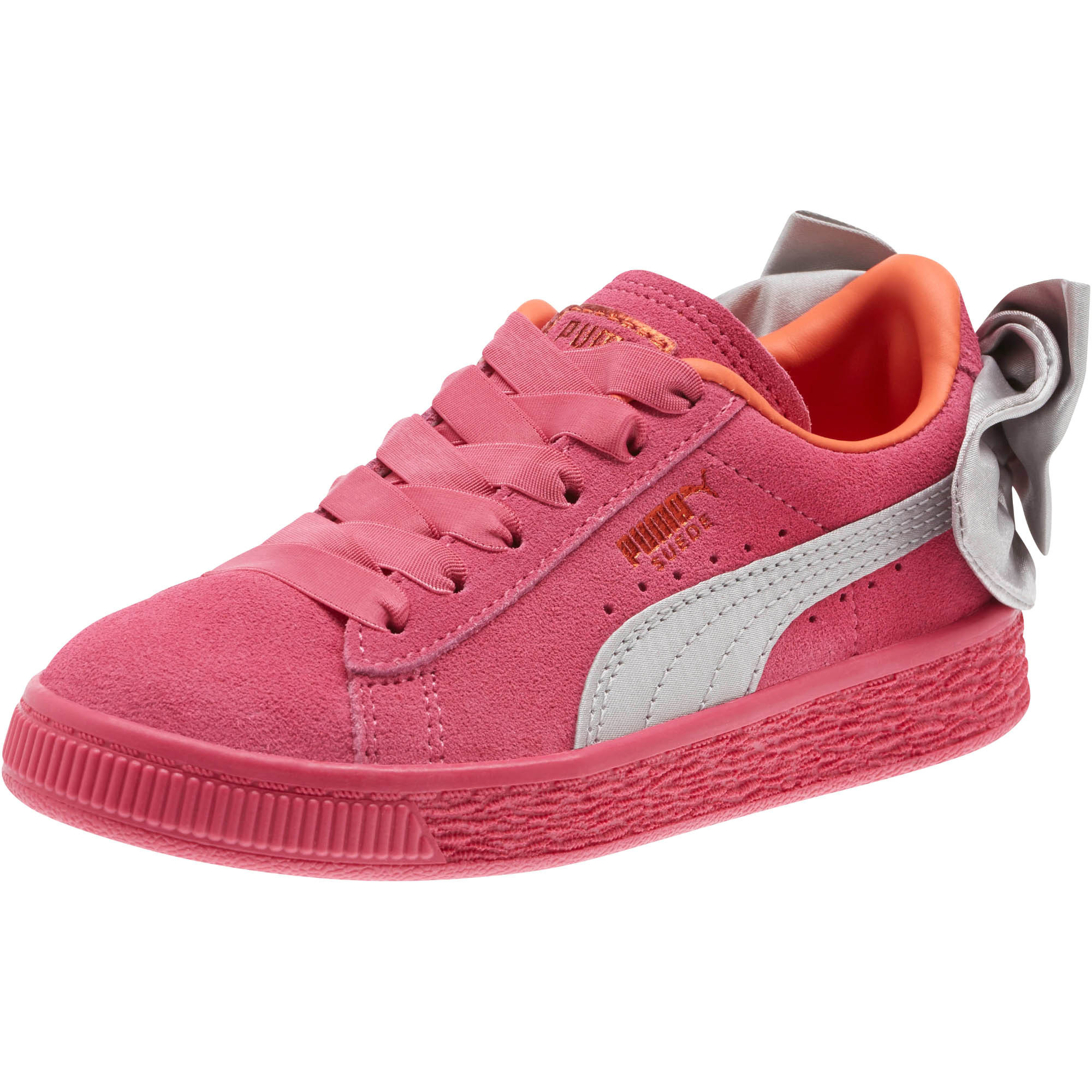 PUMA-Suede-Bow-AC-Little-Kids-039-Shoes-Girls-Shoe-Kids thumbnail 4