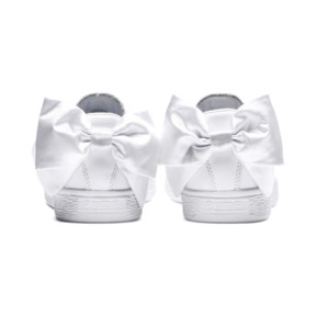 Thumbnail 4 of Basket Women's Bow Trainers, Puma White-Puma White, medium