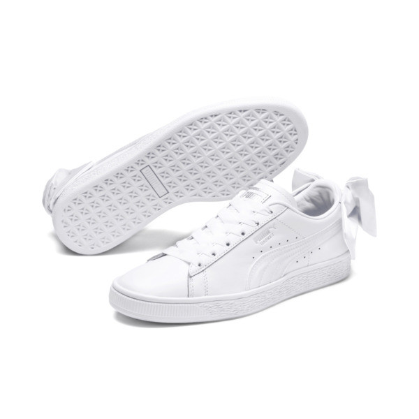Basket Bow Damen, Puma White-Puma White, large