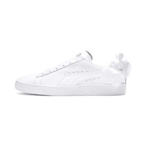 Thumbnail 1 of Basket Women's Bow Trainers, Puma White-Puma White, medium