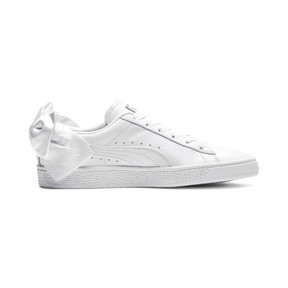 Thumbnail 5 of Basket Women's Bow Trainers, Puma White-Puma White, medium