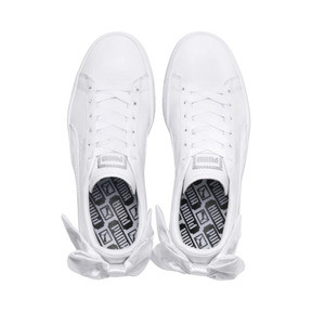 Thumbnail 6 of Basket Women's Bow Trainers, Puma White-Puma White, medium