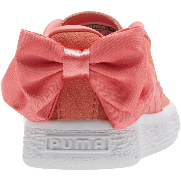Suede Bow Toddler Shoes, Shell Pink-Shell Pink, large