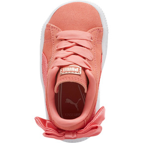 Thumbnail 5 of Suede Bow Toddler Shoes, Shell Pink-Shell Pink, medium