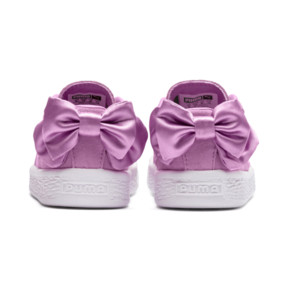 Thumbnail 4 of Suede Bow Baby Girls' Trainers, Orchid-Orchid, medium