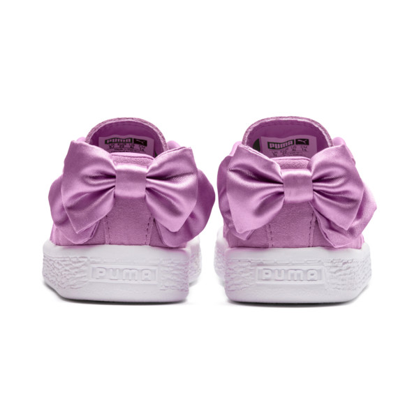 Suede Bow Baby Mädchen Sneaker, Orchid-Orchid, large