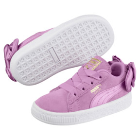 Thumbnail 2 of Suede Bow Baby Girls' Trainers, Orchid-Orchid, medium