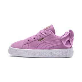 Thumbnail 1 of Suede Bow Baby Girls' Trainers, Orchid-Orchid, medium