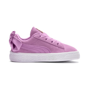 Thumbnail 5 of Suede Bow Baby Girls' Trainers, Orchid-Orchid, medium