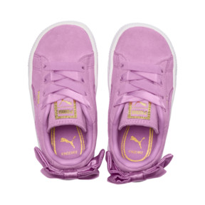 Thumbnail 6 of Suede Bow Baby Girls' Trainers, Orchid-Orchid, medium