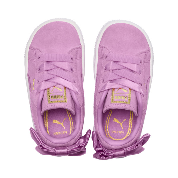 Suede Bow Baby Girls' Trainers, Orchid-Orchid, large
